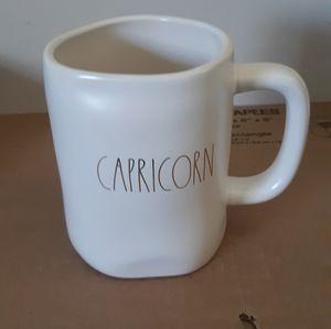 Rae Dunn LL Capricorn Mug White